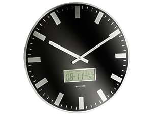Karlsson KA5388BK Horloge LCD Station Noir 35 cm