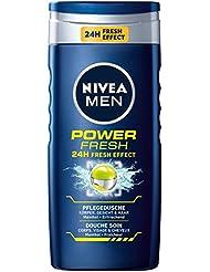Nivea Men Power Refresh Körper, Gesicht & Haar Duschgel, 4er Pack (4x 250 ml)