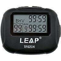 ATOPHK Professionnel Minuteur d'intervalle Chronomètre de Sport Chronographe Horloge LCD Grand Écran Affichage Numérique Compte à Rebours Alarme Vibration Leap TF6204 Noir