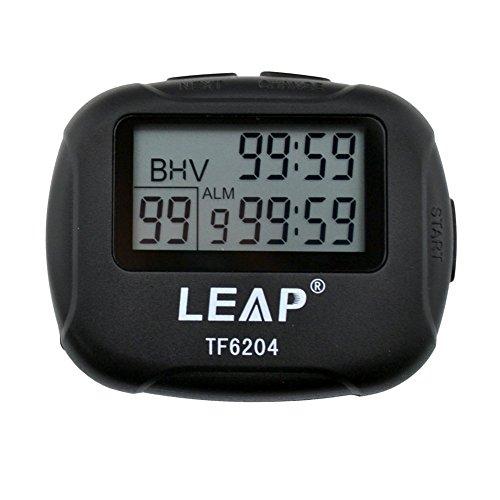 ATOPHK Intervallzeitgeber Sport Stoppuhr Uhr LCD Digital Großes Display Alarm Zählen Zeit Countdown Vibration, für Sport Trainning Crossfit Laufen Yoga Gewichtheben, Sprung TF6204 Schwarz