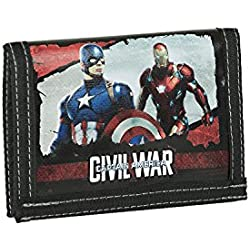 Karactermania Capitán América Civil War Monedero, 12 cm, Negro