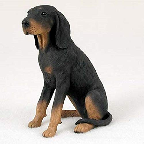Black & Tan Coonhound Dog Figurine