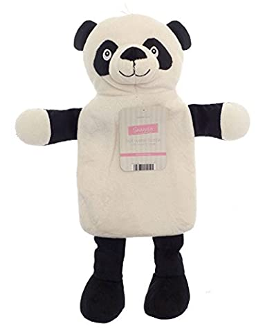 Kids Hot Water Bottle with Adorable Cuddly Animal Cover - Panda