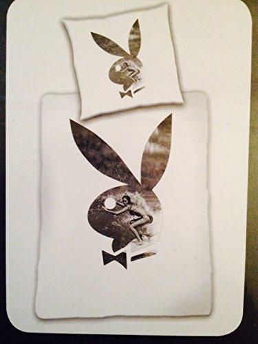 Bettwäsche Playboy Home Bunny Surfin Microfaser Bezug 135x200cm Kissen 80x80cm mit Reißverschluss 100%Polyester