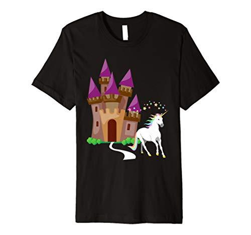 Einhorn-Schloss-T-Shirt Niedliches magisches T-Stück