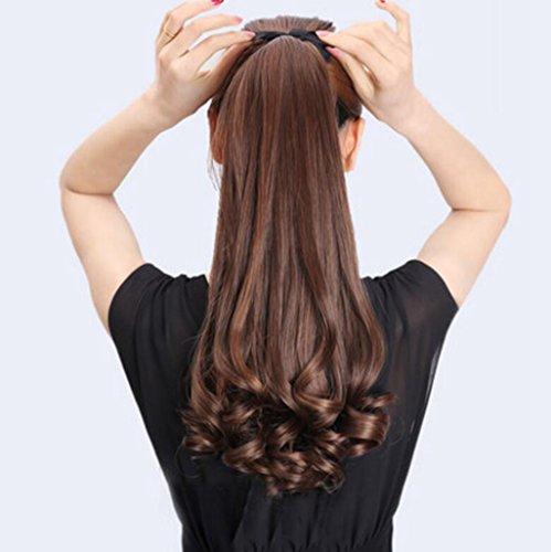 Longless Perücken lange lockige Haare gebändert Birne fake Horseshoe Big Wave realistische lang kurz Perücken (Das Joker Kostüm Ziel)