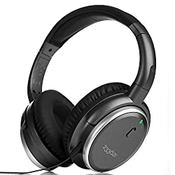 Active Noise Canceling Over Ear Headphones H501, Stereo Headset with Microphone and Remote Control, Adjustable, Swivel Earpads, Gray, 233621