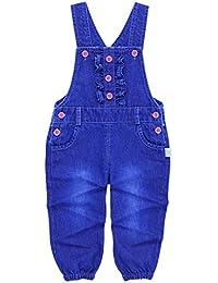 Happy Cherry - Bébé Garçons Fille Salopette V Forme Denim Pantalons Combinaison