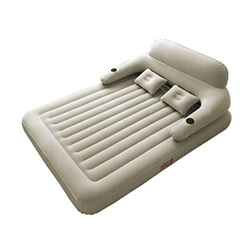 Giow Luftbett - doppeltes aufblasbares Bett Haushalt Sexy Bett verdicken faules tragbares Zeltbett im Freien Mittagspause mit elektrischer Pumpe