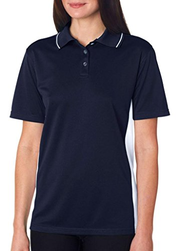 UltraClub - Polo - Femme Navy/ White