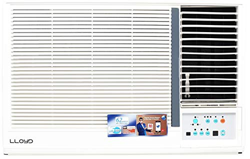 Lloyd 1.5 Ton 3 Star Window AC (Copper Condensor, LW19A3N, White)