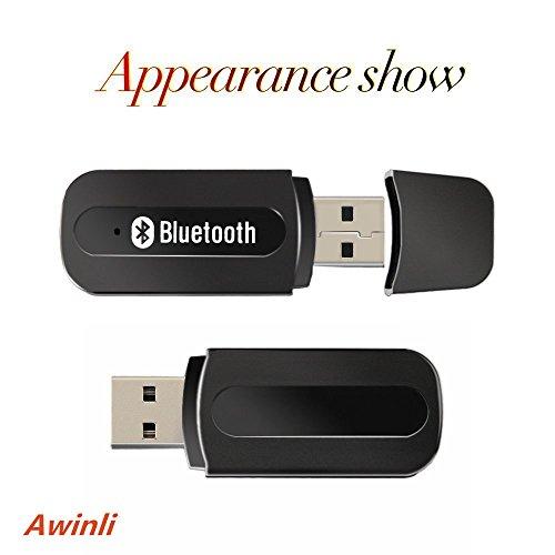 USB Bluetooth Empfänger Musik Receiver Adapter Mini Auto Kit 3.5mm Wireless Audio Adapter für Auto / Heim Stereo Musik Portable Mini USB Wireless Bluetooth Musik Audio Receiver (Schwarz)