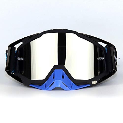 WAJJ Motorradbrillen, Hundert Offroad-Brillen Fahren Brillen Vollformat Offroad-Helmbrillen Motorrad-Stau-Brillen Cabrio-Brillen (Color : F)