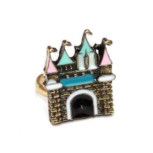 Ritterburg Ring Märchen Schloss - verstellbare Größe - Burg für Prinzessin Prinz König (Mario Kostüm Schmuck De)
