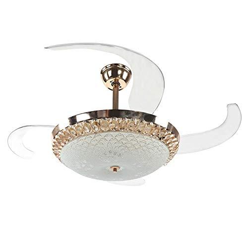 Iluminación Habitaciones interiores Ventilador de techo de flores de cristal con control remoto 4 engranajes...