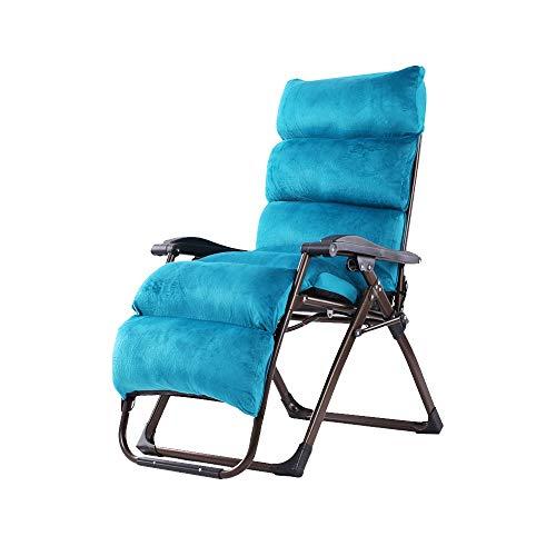Bseack Chaises Longues, réglage Semi-Automatique Pliant Peut s'asseoir, Peut s'allonger Chaise Longue Design Ergonomique pour Jardin Balcon (Couleur : Bleu)