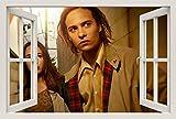 Unified Distribution Fear The Walking Dead - Wandtattoo mit 3D Effekt, Aufkleber für Wände und Türen Größe: 92x61 cm, Stil: Fenster