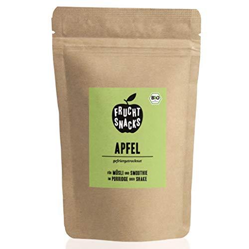 BIO Apfel gefriergetrocknet 25g I Getrocknete Apfelscheiben bio ohne Zucker I 100{7c1f78639d897107a1745505a2aa7abdf5a554e3d9262ac674a07e536ef093a1} Frucht, voller Geschmack