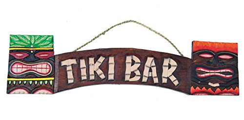 Tiki-Bar-Cartel-60-cm-Decoracin-para-su-Lounge-Rango-Tiki-40263-Cartel-de-madera-Tiki-God