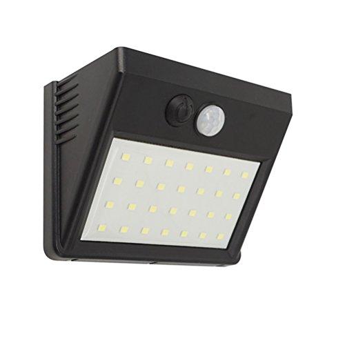LEDMOMO LED Solaire Capteur PIR Lumière Extérieure Lumière de Sécurité Étanche Lampe Murale Détachable pour Jardin Patio Pont Garage Voie Allée