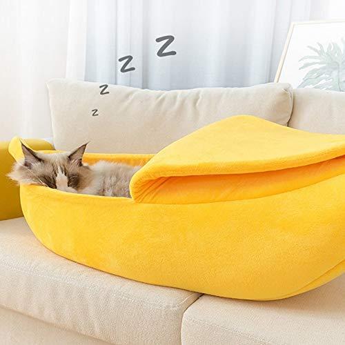 ane Leopard Hund Katze Haus Katze Bett Zelt Kennel Doggy Warme Kissen Korb Tierbett Höhle Pet Produkte, L ()