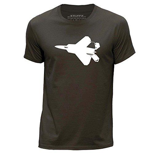 stuff4-uomo-x-piccolo-xs-marrone-scuro-girocollo-t-shirt-jet-da-combattimento-f-22-raptor