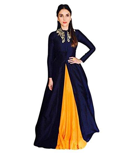 Vaidehi Creation Women's Cotton Silk Lehenga Choli (Yellow,Free Size, Semi-Stitched)