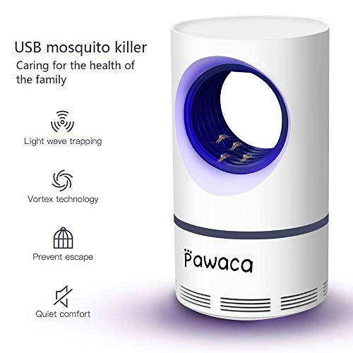 VZATT Neuestes Insektenvernichter, USB Insektenlampe, Photokatalysator-Moskito-Mörder, Moskito-Falle Für Schlafzimmer Büro Innen - Ungiftig, Keine Strahlung