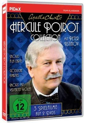 Agatha Christie: Hercule Poirot-Collection / Drei spannende Spielfilme mit Peter Ustinov (Mord à la Carte +Tödliche Parties + M