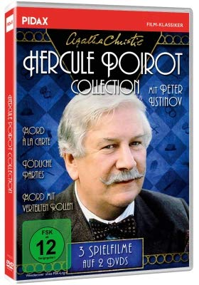 Agatha Christie: Hercule Poirot-Collection / Drei spannende Spielfilme mit Peter Ustinov (Mord à la Carte +Tödliche Parties + Mord mit verteilten Rollen) (Pidax-Film-Klassiker) (Hercules Kostüm Kind)