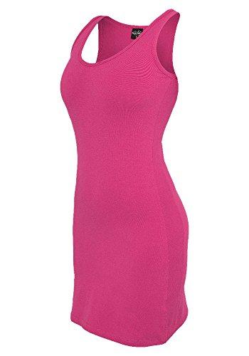Urban Classics Damen Kleid - verschiedene Farben Fuchsia