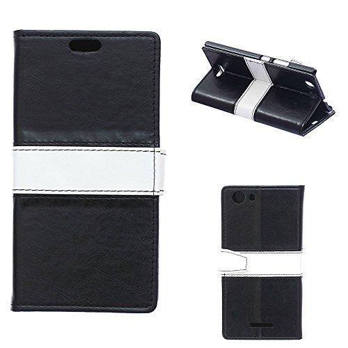 Wiko RIDGE 4G Wallet Case, [Double Color Design]...