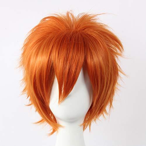HOOLAZA orange Kurzhaarperücke Vampir Ritter Kain Akatsuki Cain Akatsuki Naruto Jyuugo Bleach Kurosaki Ichigo für ()