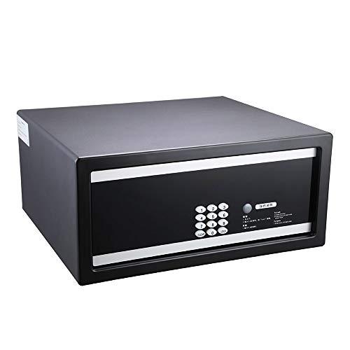 CHUANG TIANG Kleiner digitaler Safe, Stahlkonstruktion, LCD-Display, Nothilfeschlüssel (schwarz) Lcd-digital-safe
