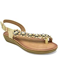 tresmode Women's 186-Floral Fashion Sandals