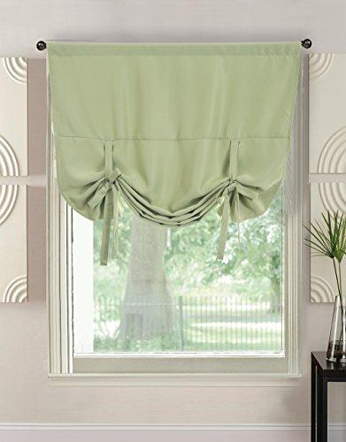 Gutgojo tenda a pacchetto 117 x 160 cm, tinta unita, oscurante, con coulisse per finestra porta e cucina, 1 pezzo verde
