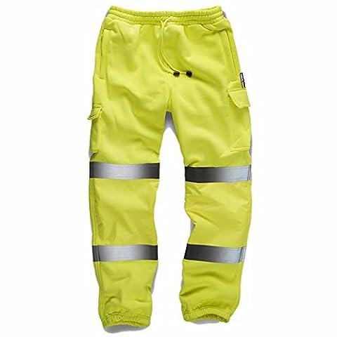 Pantalon de jogging / travail haute-visibilité - L taille 86-96cm, Jaune - EN471:2003 + A1:2007 Class 1