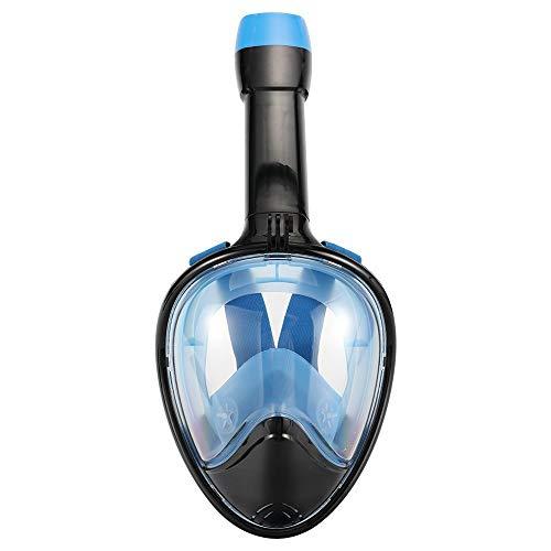 Buceo de Cara Completa y máscara de Snorkel Antifuga Anti-vaho para niños y Adultos, H1, L/XL