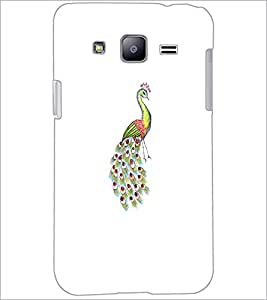 PrintDhaba Peacock D-4745 Back Case Cover for SAMSUNG GALAXY J2 (Multi-Coloured)