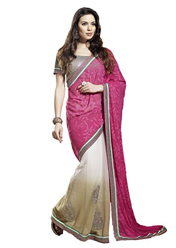 Mansi Sarees Synthetic Saree (Rr34800_Pink)