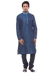 Manyavar Blue Designer Kurta Set (X-Large)
