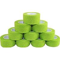 Kohäsive Pflaster selbstklebend Fixierbinde Haftbinde Farbe: grün (Größe: 2,5 cm x 4 m, 60 Stück) preisvergleich bei billige-tabletten.eu