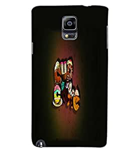 SAMSUNG GALAXY NOTE 3 TEXT Back Cover by PRINTSWAG
