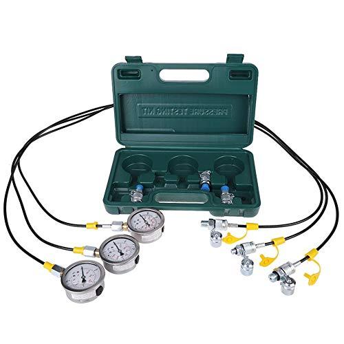 Wenhu Hydraulikdruck-Testkit für Bagger mit Zubehör für Schlauchkupplung und Messgeräte -