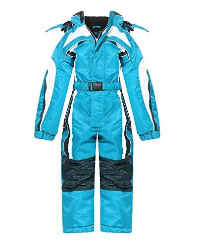 PM Kinder Outdoor Skianzug Snowboard für Jungen oder Mädchen Funktionsanzug Hardshell Schneeanzug LB1127 Winter (Hellblau, 116)