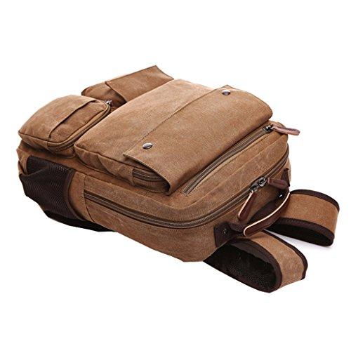 Super Modern Vintage Canvas Rucksack Rucksäcke für Laptop/Schule/Wandern/Outdoor Casual Daypacks College Bag Laptop Tasche Computer Tasche aus Segeltuch Rucksack Schwarz