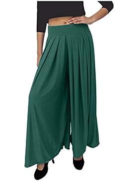 Indian Handicrfats Export Dolce Divaa Flared Women's Dark Green Trousers