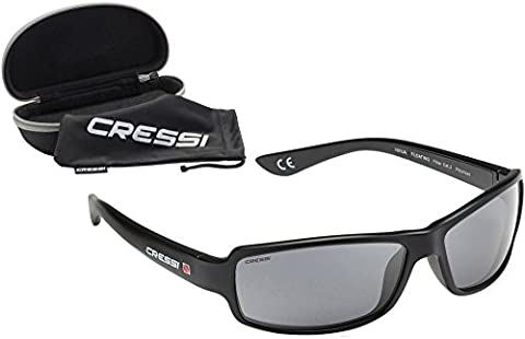 Cressi Ninja Floating, Sunglasses Sport Mens, Polarized Lenses, with Hard (Occhiali da sole)