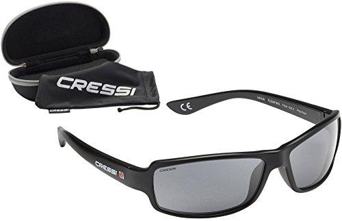 Cressi Ninja Sonnenbrille  Schwimmend Polarisierte mit 100% UV-SCHUTZ,Schwarz, DB100002