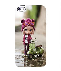 For Apple iPhone 5S -Livingfill- Cute animated cartoon girl Printed Designer Slim Light Weight Cover Case For Apple iPhone 5S (A Beautiful One of the Best Design with a Classic Theme & A Stylish, Trendy and Premium Appeal/Quality) (Red & Green & Black & Yellow & Other)